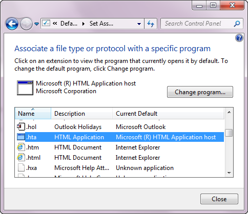 AX Setup: autorun hta is not a valid win32 application
